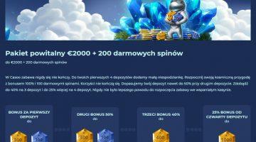 bonus powitalny w kasynie online 200