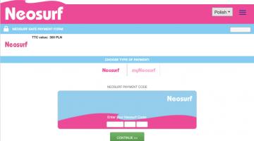metody platnosci w neosurf online casino